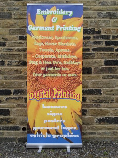 Printed pop-up banners